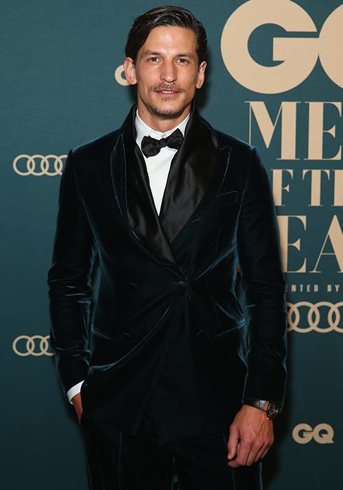 Australian model Jarrod Scott looked dapper in a velvet suit. *(Image: Getty)*