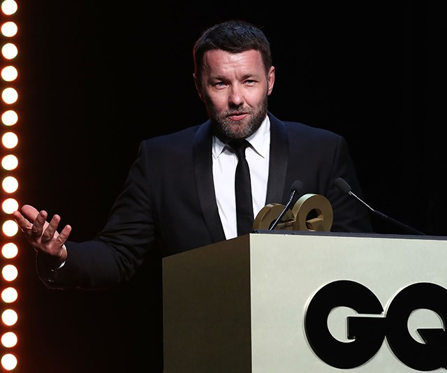 The big winner of the night Joel Edgerton looked chuffed to receive the coveted *GQ* Man of the Year award.