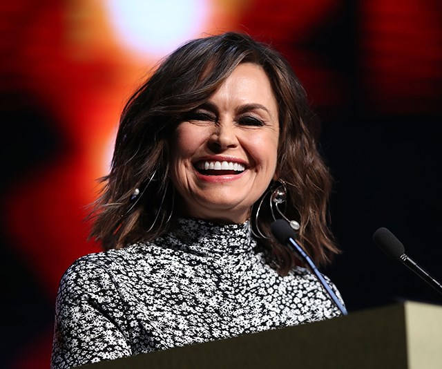 As always, television host Lisa Wilkinson looked gorgeous as she presented during the event. *(Image: Getty)*