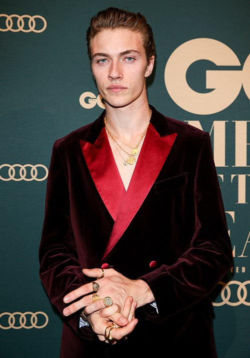 American model Lucky Blue Smith nailed the sultry look on the red carpet. *(Image: Getty)*