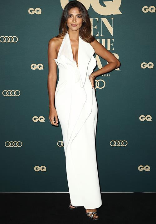 Former *Home and Away* actress and model Pia Miller turned heads in white. (Image: Getty)