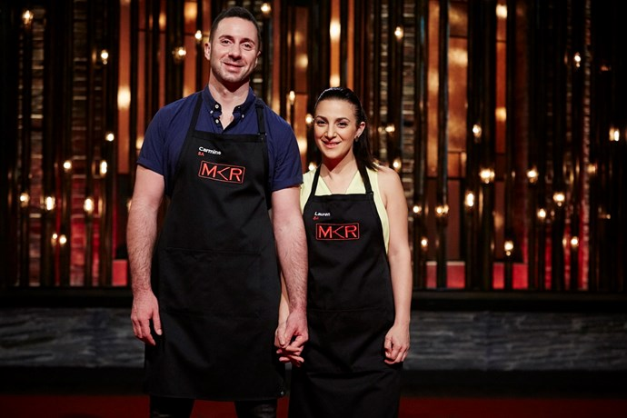 Carmine and Lauren on *My Kitchen Rules*.