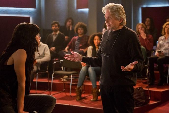 Michael Douglas plays acting coach Sandy Kominsky.