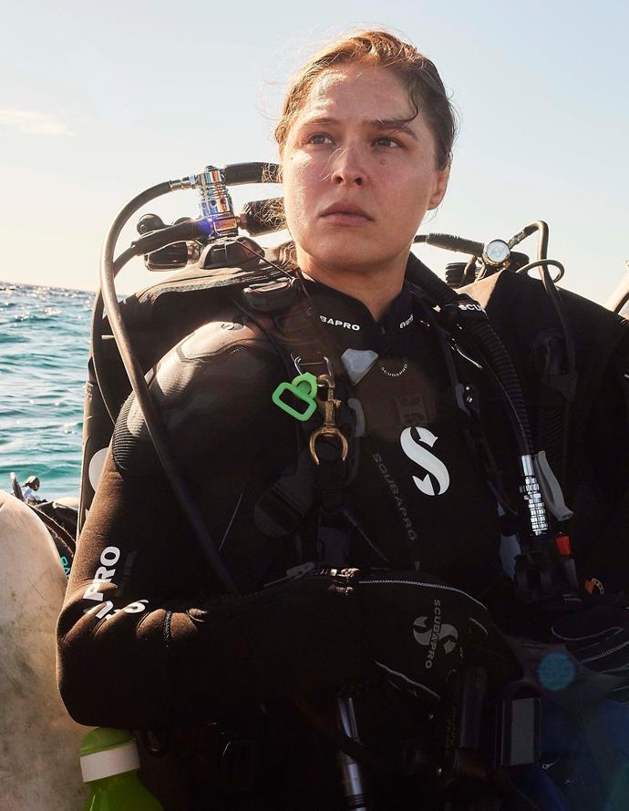 Rhonda Rousey gets shark-ready.