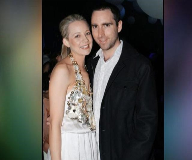 Carrie with her first husband, Greg Lange who died of brain cancer eight years ago.
