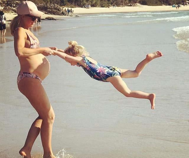 Carrie enjoys being mum to Ollie and Evie and will soon have her hands full with number three! *(Image: Instagram/@bickmorecarrie)*