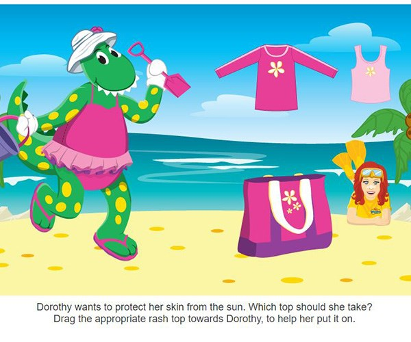 Sun safety education doesn't have to be boring. *(Image: ABC)*