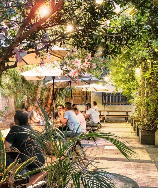 The Golden Barley has a lovely, shady beer garden making it just perfect to take the kids. *(Image: The Golden Barley)*