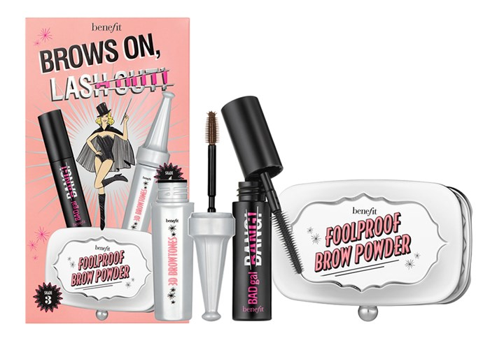 """Benefit Brows On Lash Out kit, $45 at [Sephora](https://www.sephora.com.au/products/benefit-cosmetics-brows-on-lash-out-fall-faves-brow-set-limited-edition/v/default