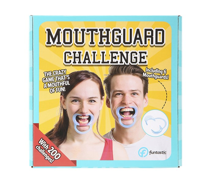 """Mouthguard Challenge Game, $10 at [K-Mart](https://www.kmart.com.au/product/mouthguard-challenge/1398812