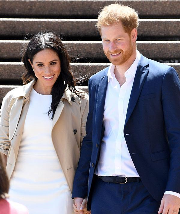 Duchess Meghan and Prince Harry shared their happy news with the world last October. *(Image: Getty)*