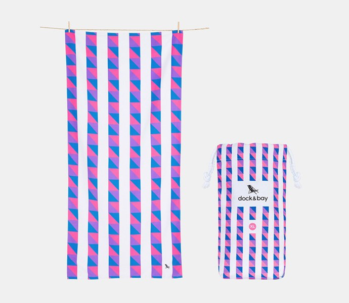 """[Dock & Bay Cabana Towel](https://www.theiconic.com.au/extra-large-sand-free-beach-towel-200cm-681985.html?gclsrc=aw.ds&gclsrc=aw.ds&utm_source=google&utm_medium=au_sem_nonbrand&utm_content=sbra_au-shp_all_products%20-%20Brands_RLSA&utm_campaign=AU_Shopping_Brands_and_High_Value_RLSA_Basic_RC&utm_term=PRODUCT_GROUP&gclid=CjwKCAiArK_fBRABEiwA0gOOc4p9AQFBrh4s8dqwFv4Abxqw_7f79oIvADMAo5FYPYddYVcsWQuCghoCkPoQAvD_BwE