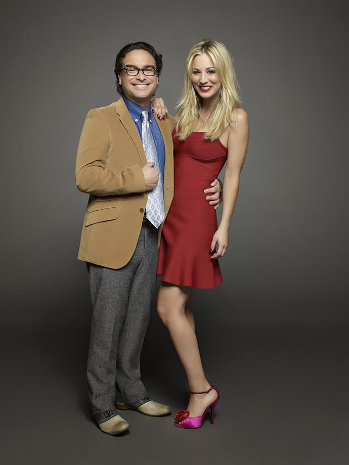 Johnny Galecki and Kaley Cuoco - Leonard and Penny on screen - dated in real life as well.