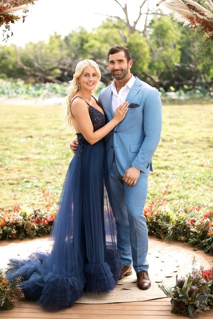 Ali and Taite in *The Bachelorette Australia* finale.