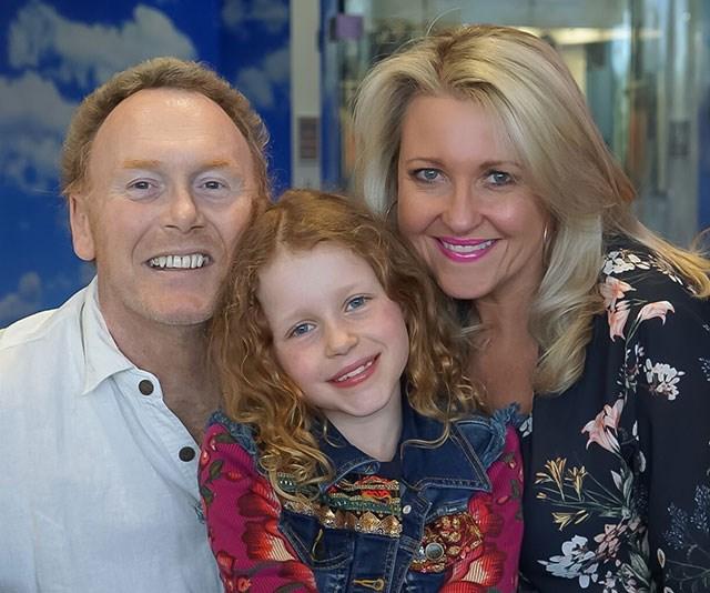 Loving family: Pete, Amelia and Angela. *(Image: supplied)*