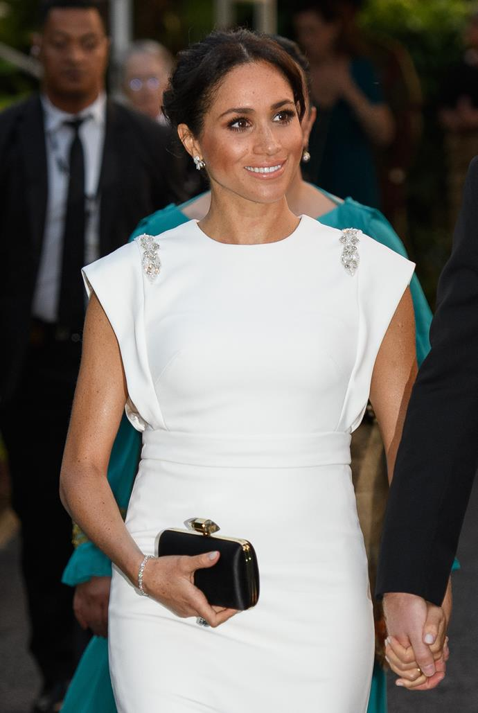 Duchess Meghan Markle will be raked through the coals in Samantha's book. *(Image: Getty)*