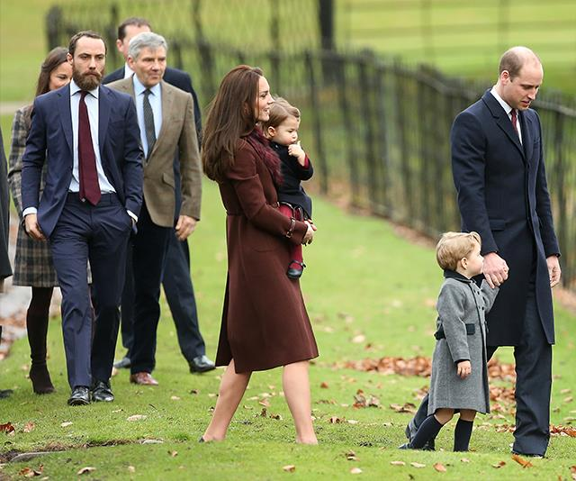 James Middleton (far left) is looking forward to a big family Christmas this year.*(Image: Getty Images)*
