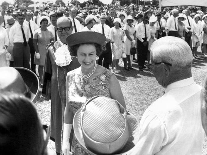 Queen Elizabeth visiting the Gold Coast in 1963. *(Source: ABC)*