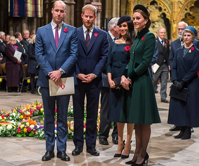 The fab four got together for the Remembrance Day ceremonies last week, but that wasn't the only occasion they were reunited. *(Image: Getty)*