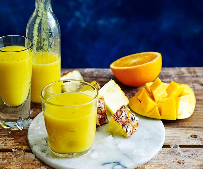 "**Summer Sunrise** <br><br> Low kj, low fat and high in Vitamin C. The perfect combination! <br><br>  Find the full *Australian Women's Weekly* recipe [HERE](https://www.womensweeklyfood.com.au/recipes/summer-sunrise-28542|target=""_blank"")"