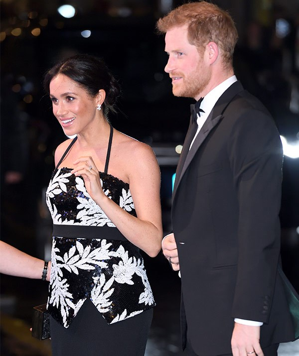 It was a royal night out for Duchess Meghan and Prince Harry on Monday night.