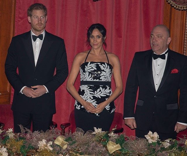 The best seats in the house: The Duke and Duchess of Sussex watched on from the royal box. *(All images: Getty Images)*