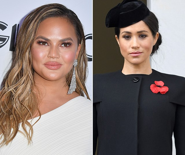 Chrissy Teigen has dished on what it's really like to work with Meghan Markle. *(Images: Getty)*