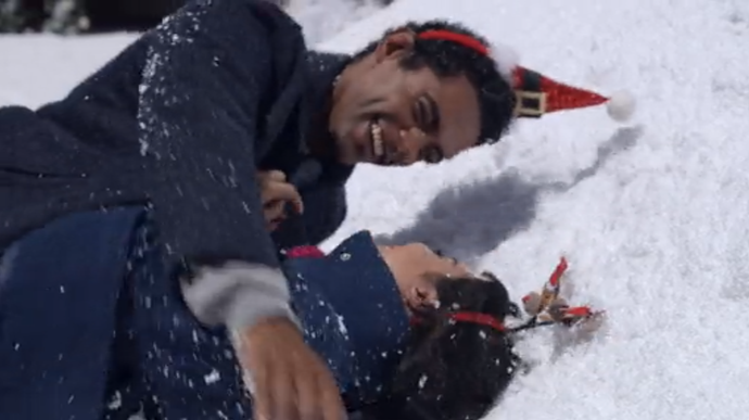"""""""Look how much fun snowball fights are!"""""""