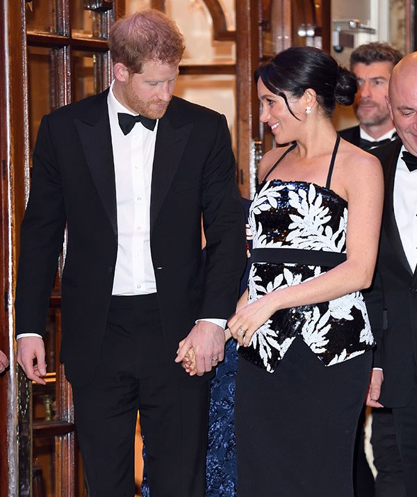 His pregnant wife, Duchess Meghan, will understandably be staying back in London.