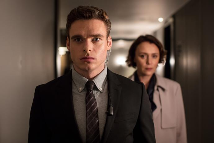 Sergeant David Budd (Richard Madden) and Julia Montague (Keeley Hawes).