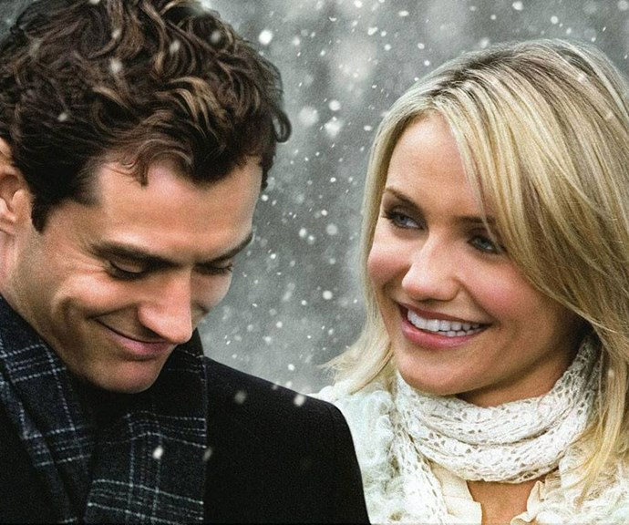 ***The Holiday* (2006, Netflix)** <br><br> When uptight Hollywood movie trailer producer Amanda (Cameron Diaz) trades homes with heartbroken Iris (Kate Winselt) for the holidays, they find much more than they bargained for when they cross paths with handsome strangers (played by Jude Law and Jack Black).