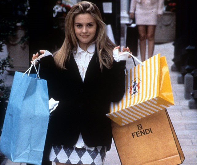 Hit the shops in true Cher style this Black Friday - we won't judge! *(Image: Getty)*