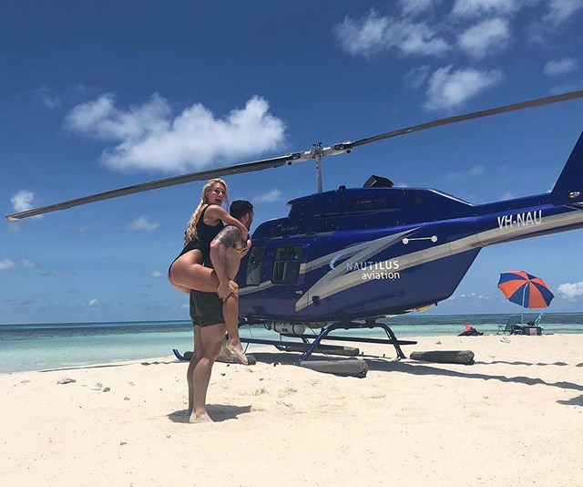 Those helicopter trips won't last forever. *(Image: Instagram @taiteadamradley)*