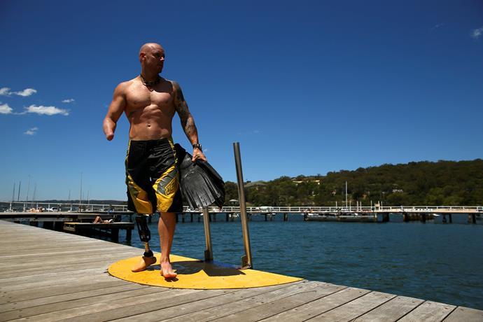 Paul de Gelder lost limbs in a shark attack.