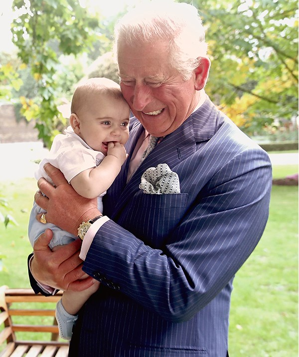 Our hearts! Charles and Louis share a sweet moment. *(Image: Getty - Images are part of a set to mark His Royal Highness's 70th birthday.)*