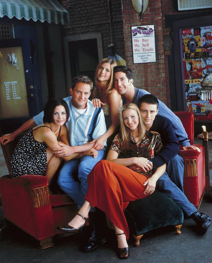 """**FRIENDS** <br><br> **Years on TV:** 1994-2004 <br><br> **Seasons:** 10 <br><br> **The show:** One of the biggest hits in the history of TV followed the merry misadventures of six 20-something pals as they navigated their working and social lives, all shacked up in an apartment block in New York City.  <br><br> **The finale:** Ross (David Schwimmer) and Rachel's (Jennifer Aniston) rocky relationship dominated the finale and consequently left us unsatisfied because it robbed the other amazing characters of meaningful screen time. <br><br> **Reboot chances:** Jennifer has revealed she """"fantasises"""" about starring in a reboot. We, however, can't see the appeal of 50-year-olds hanging out in a coffee shop."""