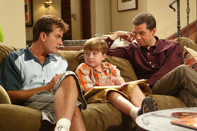 **TWO AND A HALF MEN** <br><br> **Years on TV:** 2003-2015 <br><br> **Seasons:** 12 <br><br> **The show:** One of the most divisive sitcoms in years changed tack following the sacking of star Charlie Sheen in 2011. Single father Alan Harper (Jon Cryer) ends up living in a beachfront house with divorced internet billionaire Walden Schmidt (Ashton Kutcher).  <br><br> **The finale:** A total shocker. The final episode brought back many familiar faces, but not Charlie, who was fired four years earlier. In the finale, another actor fills Charlie's shoes and he's squashed by a piano.  <br><br> **Reboot chances:** Could not happen without Charlie, who, following the recent axing of the Roseanne reboot, tweeted that it was time for a new *Two And A Half Men*.