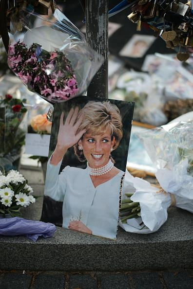 A Princess Diana memorial following her death. *(Source: Getty)*