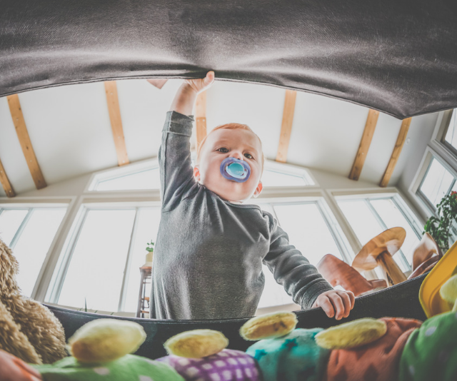 **Open:** Using the word open every time you open a drawer, a door, a jar or a box will help your little one not only understand what it means, but have them repeating it in no time. *Image: Getty Images.*