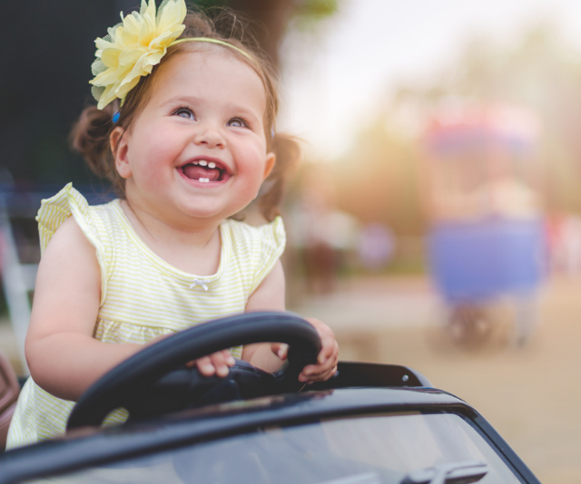 **Car:** Car, broom broom, beep beep ... identifying cars in whichever way they are taught can be super fun for babies and are often recorded as one of baby's first words. *Image: Getty Images.*