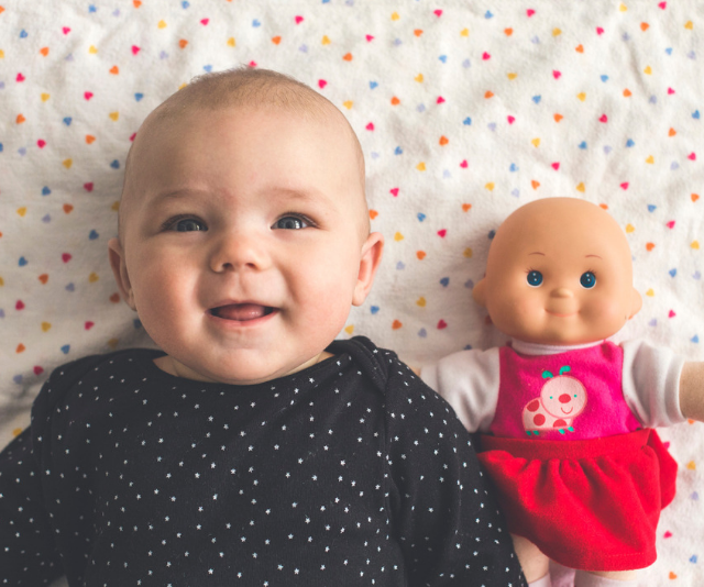 **Baby or bubba:** Babies might not realise that they are actually a baby themselves, and that is never more evident than when they learn to identify their dolls, siblings, cousins and random babies in the street with a joyful exclamation of 'bubba'. *Image: Getty Images.*