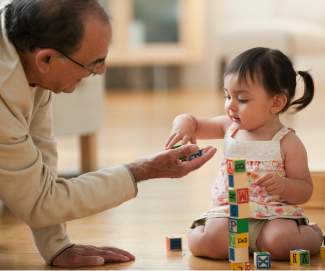 "**Ta:** Using the word ""ta"" every time you pass your baby something, or whenever they hand you back something in return will have your child not only learning a new word, but some new manners too! Winning. *Image: Getty Images.*"