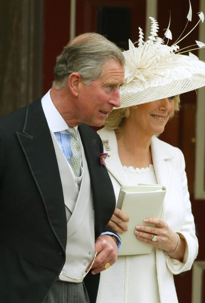 Charles and Camilla wed in a civil ceremony in 2005. *(Image: Getty)*