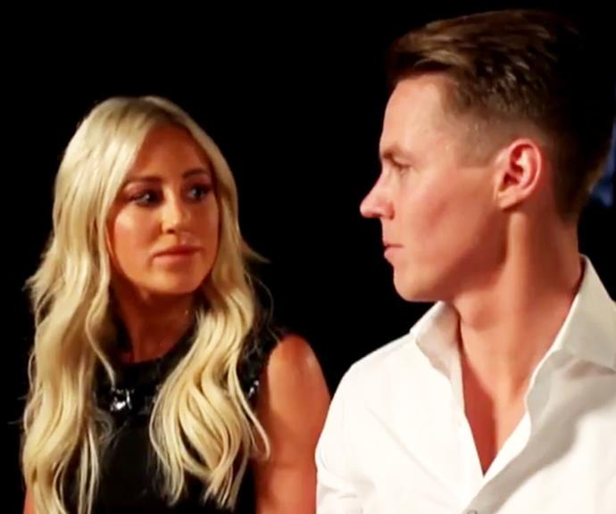 Roxy Jacenko and Oliver Curtis on *Sunday Night*, Channel 7. *(Source: Channel 7)*