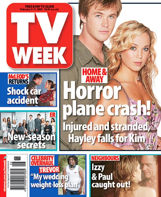 Chris Hemsworth's vintage TV WEEK cover with Bec Hewitt.