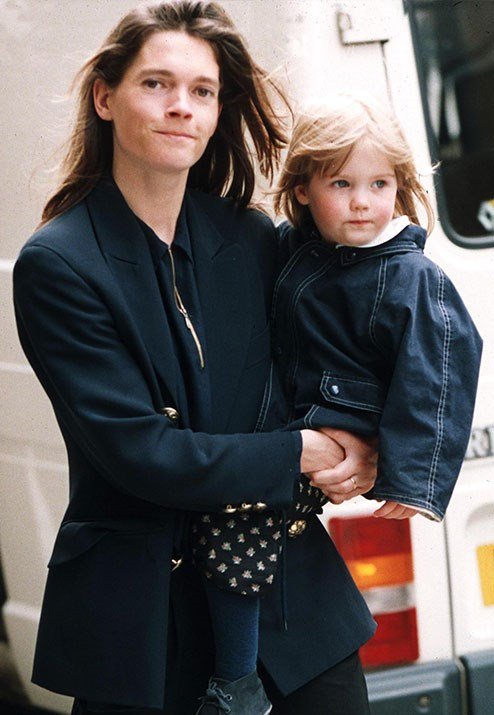 Lady Kitty Spencer with her mother Victoria Althorp in 1993. *(Image: Brendan Beirne/REX/Shutterstock)*