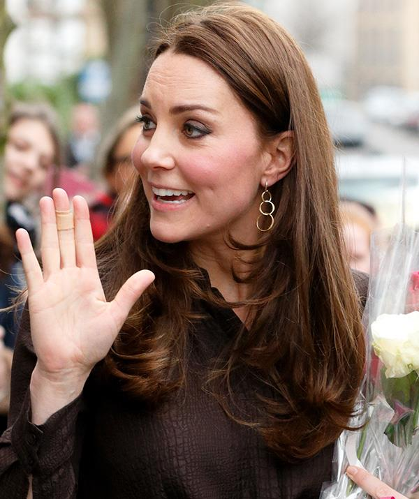 Kate is often spotted wearing a bandage on her hand. *(Image: Getty)*