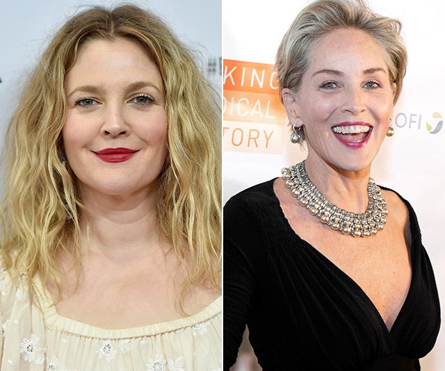 Celebrities like Drew Barrymore and Sharon Stone have reportedly looked for love on the elusive dating app Raya. *(Images: Getty)*