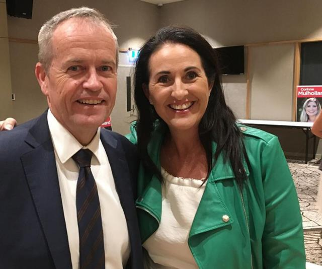 Rochelle met with Bill Shorten to discuss the outrageous prices of sanitary items. *(Image: Instagram @sharethedignityaustralia)*