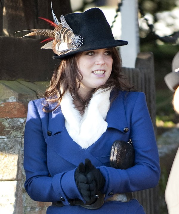Younger sister Princess Eugenie's stylish feathered fedora turned heads in 2010.